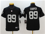 Oakland Raiders #89 Amari Cooper Youth Black Vapor Untouchable Limited Jersey