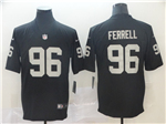 Oakland Raiders #96 Clelin Ferrell Black Vapor Untouchable Limited Jersey