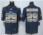 Los Angeles Rams #29 Eric Dickerson Navy Blue Pro Line Fashion Strobe Jersey