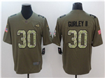 Los Angeles Rams #30 Todd Gurley 2017 Olive Camo Salute To Service Limited Jersey