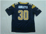 Los Angeles Rams #30 Todd Gurley II Elite Navy Blue Jersey