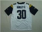 Los Angeles Rams #30 Todd Gurley II Elite White Jersey