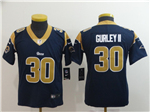 Los Angeles Rams #30 Todd Gurley II Youth Navy Blue Vapor Untouchable Limited Jersey