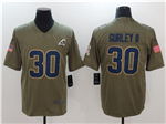 Los Angeles Rams #30 Todd Gurley 2017 Olive Salute To Service Limited Jersey