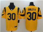 Los Angeles Rams #30 Todd Gurley Gold Vapor Untouchable Limited Jersey