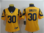 Los Angeles Rams #30 Todd Gurley II Women's Gold Vapor Untouchable Limited Jersey