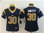 Los Angeles Rams #30 Todd Gurley II Women's Navy Blue Vapor Untouchable Limited Jersey