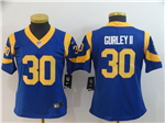 Los Angeles Rams #30 Todd Gurley II Women's Royal Blue Vapor Untouchable Limited Jersey