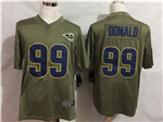 Los Angeles Rams #99 Aaron Donald 2017 Olive Salute To Service Limited Jersey