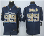 Los Angeles Rams #99 Aaron Donald Navy Blue Pro Line Fashion Strobe Jersey