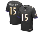 Baltimore Ravens #15 Michael Crabtree Elite Black Jersey