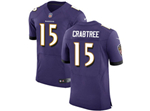 Baltimore Ravens #15 Michael Crabtree Elite Purple Jersey
