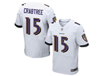 Baltimore Ravens #15 Michael Crabtree Elite White Jersey