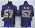 Baltimore Ravens #57 C. J. Mosley Purple Pro Line Fashion Strobe Jersey