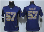 Baltimore Ravens #57 C. J. Mosley Women Purple Pro Line Fashion Strobe Jersey