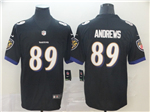 Baltimore Ravens #89 Mark Andrews Black Vapor Untouchable Limited Jersey