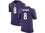 Baltimore Ravens #8 Lamar Jackson Elite Purple Jersey