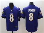 Baltimore Ravens #8 Lamar Jackson Purple Vapor Untouchable Limited Jersey