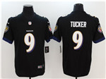 Baltimore Ravens #9 Justin Tucker Black Vapor Untouchable Limited Jersey