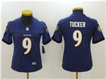 Baltimore Ravens #9 Justin Tucker Women's Purple Vapor Untouchable Limited Jersey