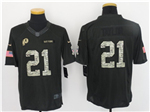 Washington Redskins #21 Sean Taylor Anthracite 2016 Salute to Service Jersey