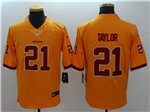 Washington Redskins #21 Sean Taylor Yellow Color Rush Limited Jersey