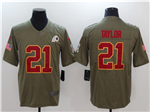 Washington Redskins #21 Sean Taylor 2017 Olive Salute To Service Limited Jersey