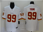 Washington Redskins #99 Chase Young White Vapor Untouchable Limited Jersey