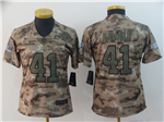 New Orleans Saints #41 Alvin Kamara Women's 2018 Camo Salute To Service Limited Jersey