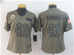 New Orleans Saints #41 Alvin Kamara Women's 2019 Olive Salute To Service Limited Jersey