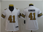 New Orleans Saints #41 Alvin Kamara Youth White Color Rush Limited Jersey