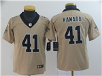 New Orleans Saints #41 Alvin Kamara Youth Gold Inverted Limited Jersey