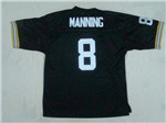 New Orleans Saints #8 Archie Manning 1971 Throwback Black Jersey