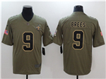 New Orleans Saints #9 Drew Brees 2017 Olive Salute To Service Limited Jersey