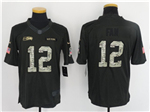 Seattle Seahawks 12th Fan Anthracite 2016 Salute to Service Jersey
