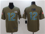 Seattle Seahawks 12th Fan Navy 2017 Olive Salute To Service Limited Jersey