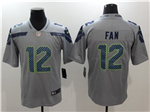 Seattle Seahawks 12th Fan Gray Vapor Untouchable Limited Jersey