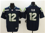 Seattle Seahawks 12th Fan Navy Blue Vapor Untouchable Limited Jersey