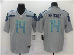 Seattle Seahawks #14 DK Metcalf Gray Vapor Untouchable Limited Jersey