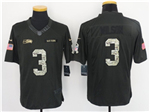 Seattle Seahawks #3 Russell Wilson Anthracite 2016 Salute to Service Jersey