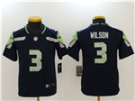 Seattle Seahawks #3 Russell Wilson Youth Navy Blue Vapor Untouchable Limited Jersey