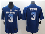NFC Seattle Seahawks #3 Russell Wilson Blue 2018 Pro Bowl Game Jersey