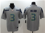 Seattle Seahawks #3 Russell Wilson Gray Vapor Untouchable Limited Jersey