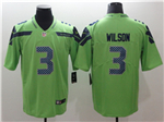 Seattle Seahawks #3 Russell Wilson Green Vapor Untouchable Color Rush Limited Jersey