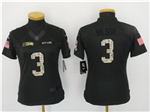 Seattle Seahawks #3 Russell Wilson Anthracite Women's Salute to Service Jersey