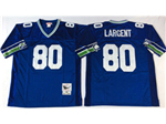 Seattle Seahawks #80 Steve Largent Throwback Blue Jersey