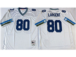 Seattle Seahawks #80 Steve Largent Throwback White Jersey