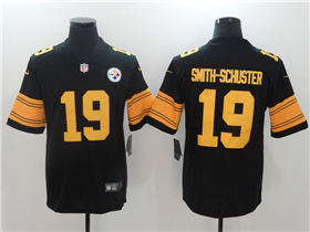 Pittsburgh Steelers #19 JuJu Smith-Schuster Black Color Rush Jersey