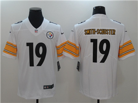 Pittsburgh Steelers #19 JuJu Smith-Schuster White Vapor Untouchable Limited Jersey