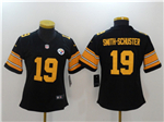 Pittsburgh Steelers #19 JuJu Smith-Schuster Women's Black Color Rush Jersey